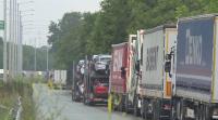 Над 300 камиона са блокирани на Дунав мост при Русе
