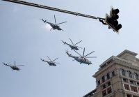 снимка 5 На Червения площад в Москва репетират за парада (Снимки)