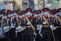 снимка 4 На Червения площад в Москва репетират за парада (Снимки)