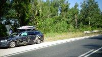 Тир удари кола с румънци край Симитли, избяга