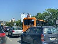"""снимка 4 Тежка катастрофа с автобус блокира """"Цариградско шосе"""""""