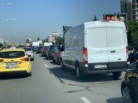 """снимка 2 Тежка катастрофа с автобус блокира """"Цариградско шосе"""""""