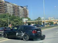 """снимка 3 Тежка катастрофа с автобус блокира """"Цариградско шосе"""""""