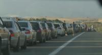 """13 км опашка от леки автомобили на ГКПП """"Кулата"""""""