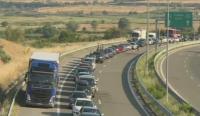 """До 13 км. достигна опашката на """"Кулата"""" при влизане в Гърция"""