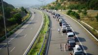 "10 км. изчакващи автомобили на ""Кулата"""