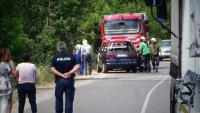 Лек автомобил пламна в движение по пътя за Рилския манастир (СНИМКИ)