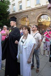 снимка 5 Румен Радев пред протестиращите: Да изхвърлим мафията от изпълнителната власт и прокуратурата