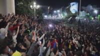 Протест срещу въвеждането на полицейски час в Белград