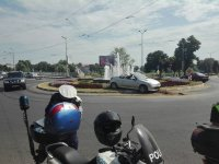 Пияна шофьорка опита да прескочи фонтана на кръговото до Водната палата в Пловдив