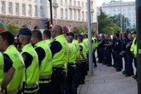 МВР: Протестът в София приключи без сериозни нарушения на реда