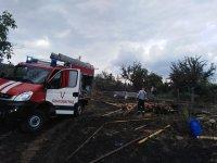 Пожар избухна в благоевградското село Рилци (СНИМКИ)