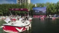 Водно кино с лодки в Париж