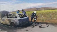 "Автомобил се запали на АМ ""Тракия"" край Бургас и предизвика задръстване"