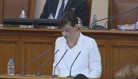 Дариткова от трибуната на НС: Радев руши демокрацията, отправя призиви за еднолично управление