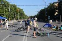 снимка 9 Центърът на София под блокада в 22-ия ден на протести (Обзор)