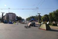 снимка 8 Центърът на София под блокада в 22-ия ден на протести (Обзор)