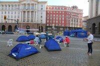 """снимка 5 22-и ден антиправителствен протест - остава палаткова блокада на Орлов мост и на бул. """"Цар Освободител"""""""