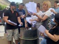 снимка 3 Мая Манолова запали протоколи от изборите пред ЦИК
