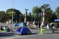 снимка 11 Центърът на София под блокада в 22-ия ден на протести (Обзор)