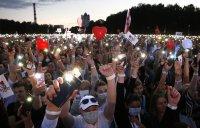 Митинг в подкрепа на опозиционния кандидат за президент на Беларус