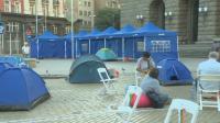 снимка 1 Центърът на София под блокада в 22-ия ден на протести (Обзор)