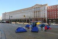 """снимка 6 22-и ден антиправителствен протест - остава палаткова блокада на Орлов мост и на бул. """"Цар Освободител"""""""
