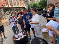 снимка 6 Мая Манолова запали протоколи от изборите пред ЦИК