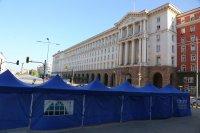 """снимка 3 22-и ден антиправителствен протест - остава палаткова блокада на Орлов мост и на бул. """"Цар Освободител"""""""