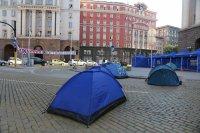 снимка 2 Центърът на София под блокада в 22-ия ден на протести (Обзор)