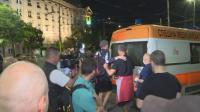 Протестиращ беше блъснат от джип по време на антиправителственото шествие снощи