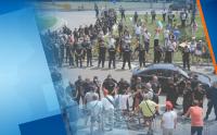 Протести, напрежение и сблъсъци около конференцията на ГЕРБ