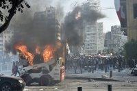 снимка 1 Ал Джазира: Над 700 ранени при протестите в Бейрут (Снимки)