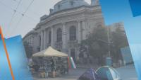 София остава с три блокирани кръстовища и палаткови лагери