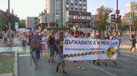 Спречкаване на протеста във Варна, конфискуваха остър шиш от демонстрант