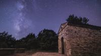 Ярки падащи звезди над испанските Пиренеи