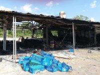 Пожар унищожи около 400 кв. метра от зеленчуковата борса в Кърналово
