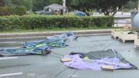 Поражение на палатковите лагери след дъжда в София
