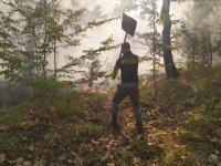 Пожарът край първомайското село Искра е потушен