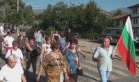Жители на Калофер блокираха подбалканския път заради липса на нормално водоснабдяване