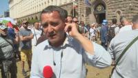 Колегата Николай Минков пострада при протеста пред МС