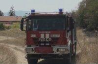 Пожар в двора на болницата в Карлово