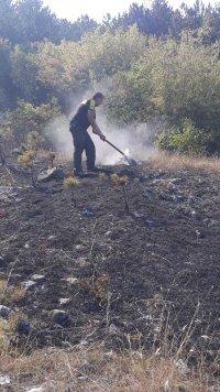 Пожарът край хисарското село Михилци е овладян