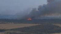 Голям пожар бушува на границата между областите Стара Загора и Хасково