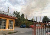 Пожар гори в цех на Захарния комбинат в Пловдив