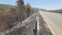 снимка 4 Пожар предизвика верижна катастрофа на подбалканския път (Видео, снимки)