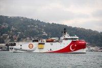 Турция изтегля временно кораба за проучване за газ, предизвикал напрежение в Източното Средиземноморие