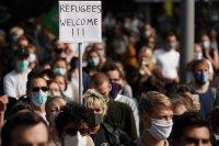 Демонстранти в Германия искат ЕС да се погрижи за мигрантите от Лесбос
