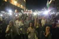 снимка 6 76-а вечер на протест в София: Напрежение между протестиращи и полиция пред старата сграда на парламента