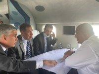 """Борисов инспектира от въздуха """"Балкански поток"""" в компанията на саудитска делегация (ОБЗОР)"""